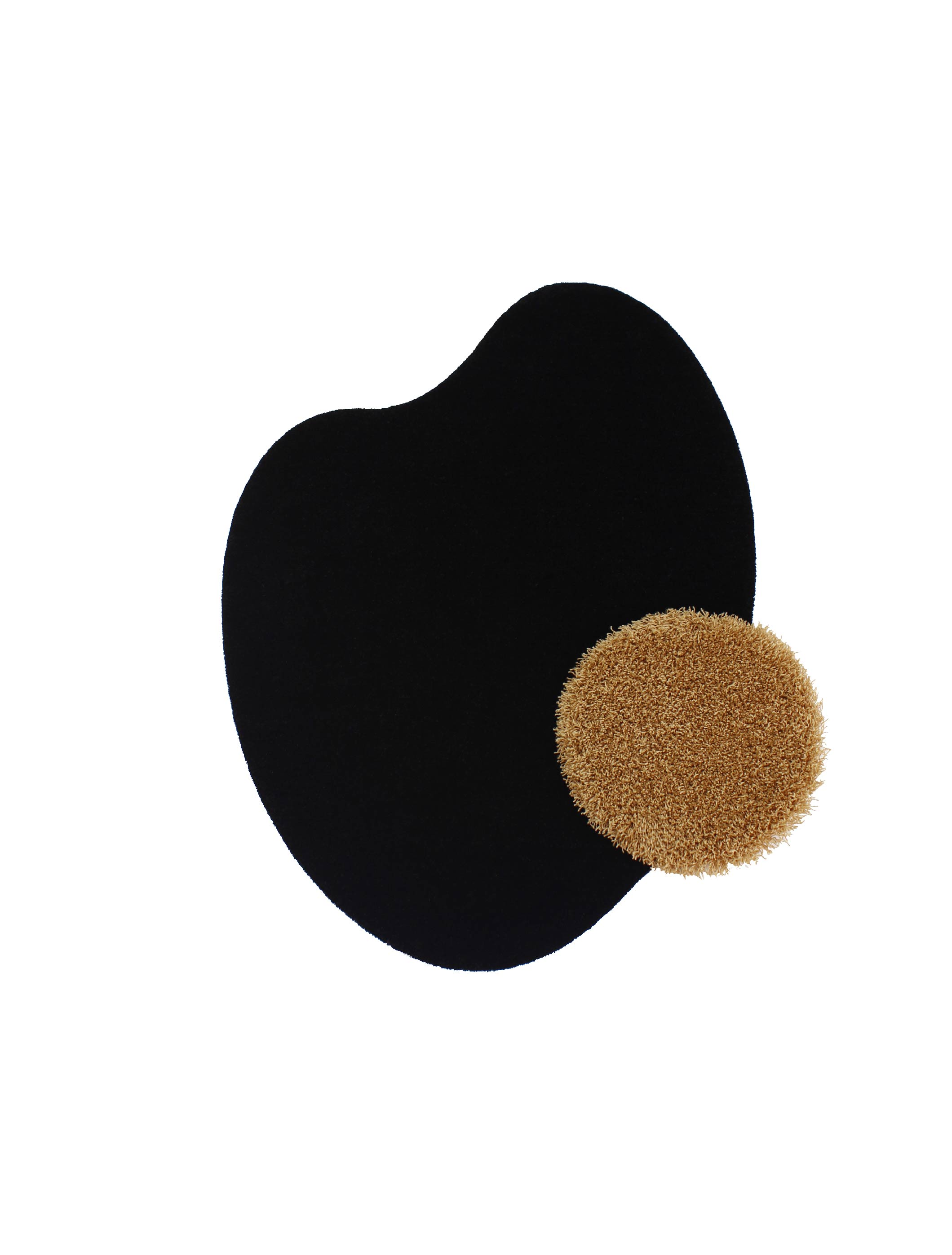 Egg Rug (Black&Brown)