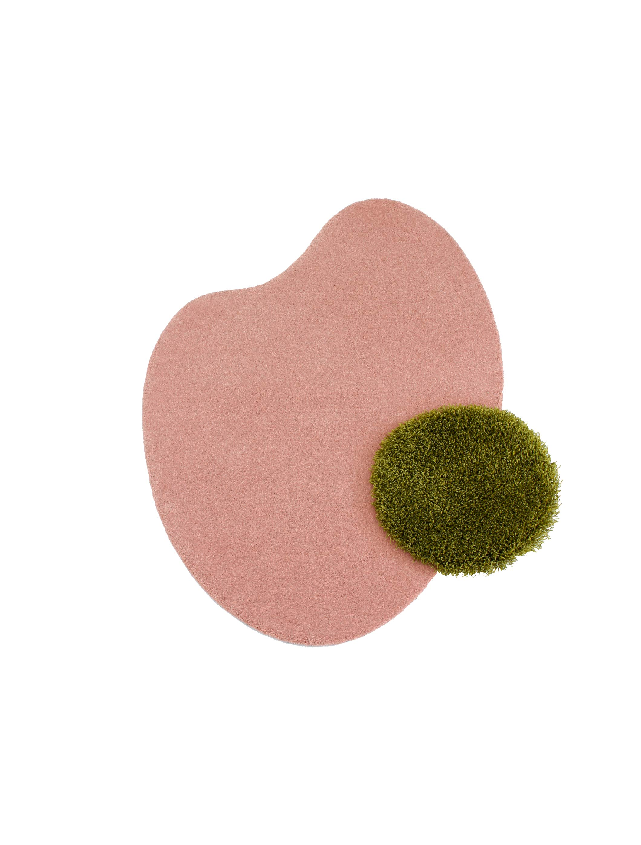 Egg Rug (Pink&Green)